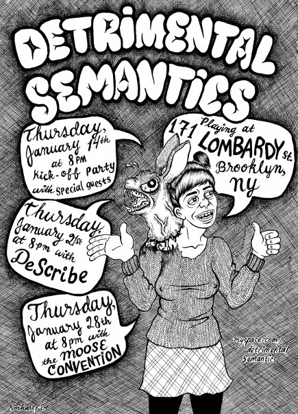 Detrimental Semantics Tonight at 171 Lombardy!