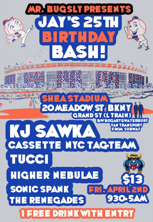 Jay Rogovin's 25th Birthday Bash feat. KJ Sawka, CassetteNYC, TUCCI, Higher Nebulae & More!