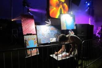 Wakarusa's Resident Live Artist Michael Garfield