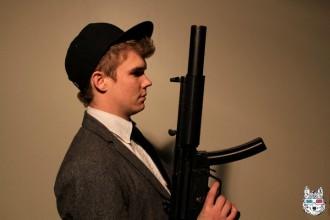 Damon with Gun