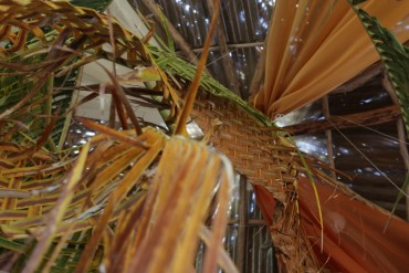 EQ~bamboo chandelier