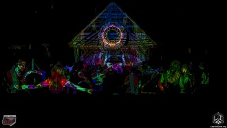 The Cosmic Stage came to life with an instillation by The Reliquarium and projections by Thai Guy Lazers