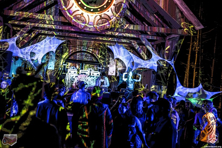 Cosmic Stage at Spectral Fest with laser projections by Thai Guy