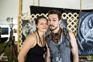 "LiS Editor Richard ""Ranchsauce"" Guerra and featured artist Olga Klimova"