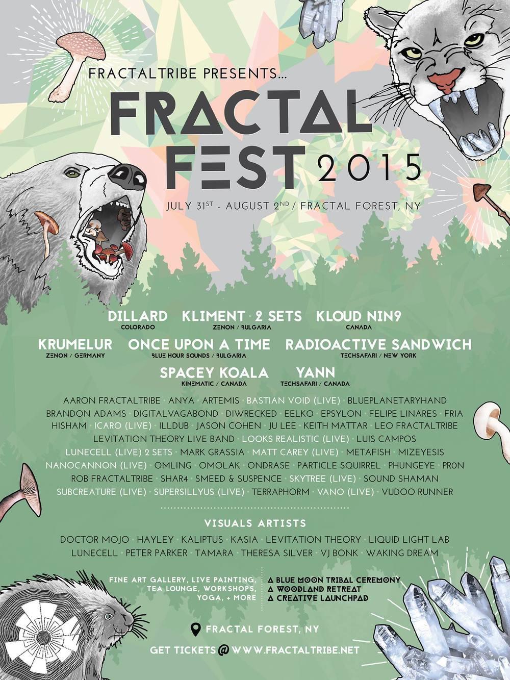 Fractal Fest flier