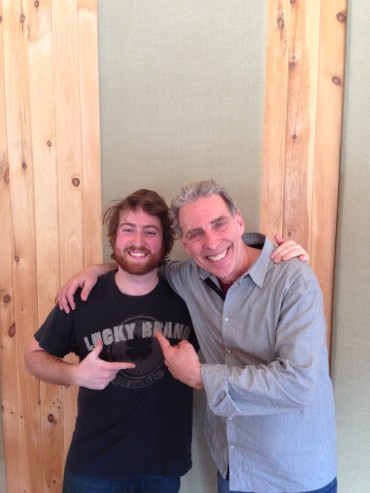 Luke Bemand with Mike Clark