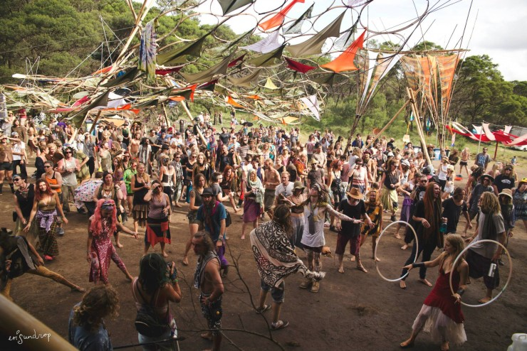 Dancing at Treetop Stage - Photo: Erica Sundrop
